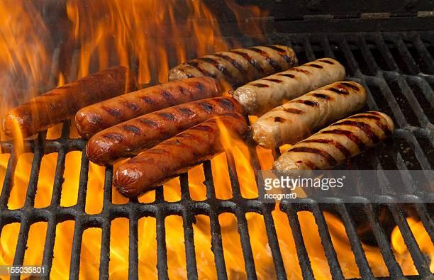 Weißwurst und hot dogs