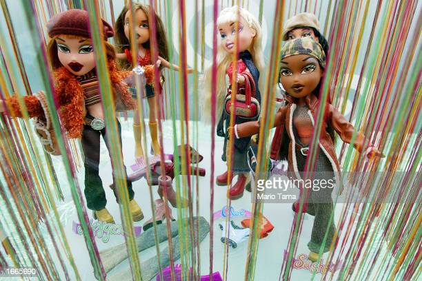 'Bratz' dolls are seen for sale on the Target Holiday Boat November 29 2002 in New York City The line of funky dolls have become staples for the...