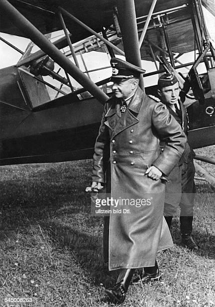 Brauchitsch Walther von Officer Field Marshal Germany *04101881 CommanderinChief of the Wehrmacht Heer 0241 is arrived with the airplane 'Fieseler...