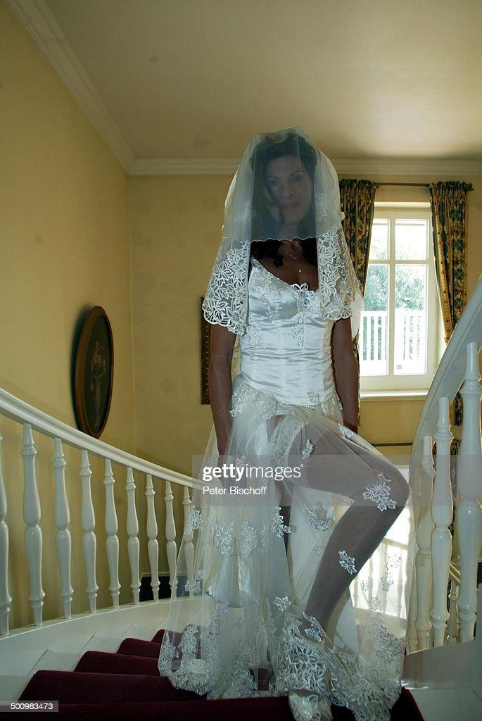 Braut Claudia Wenzel, Hochzeit, 06.09.2003, \'Gutshaus Stolpe\' (bei ...