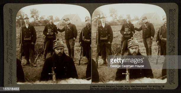 Brave Belgian Lange who was decorated for killing 15 German soldiers singlehanded between 1914 and 1918