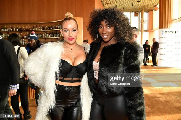 Brave Williams and Brittany B attend the 2018 ASCAP Grammy Nominees Reception at Top of The Standard Hotel on January 27 2018 in New York City