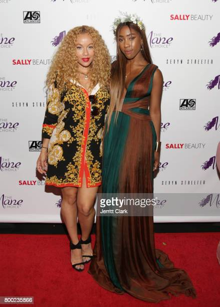 Brave Williams and Sevyn Streeter attend Sevyn Streeter and Courtney Adeleye of The Mane Choice Boss Up Brunch at Sur Restaurant on June 23 2017 in...