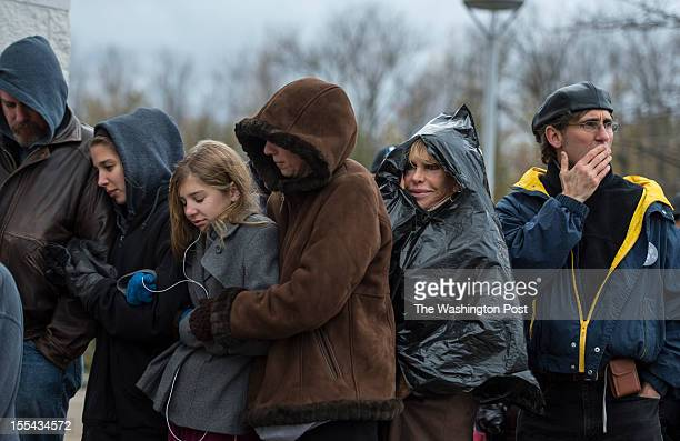 NOVEMBER 3 Braving the cold weather Don Madeline Marilyn and Michelle Moyer and Justine Ovsenik wait in line to see President Barack Obama in Mentor...