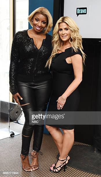 UPFRONT Bravo Esquire Oxygen 2015 Upfront Press Event in New York NY on Monday March 30 2015 Pictured NeNe Leakes Kim Zolciak Biermann Stars of...