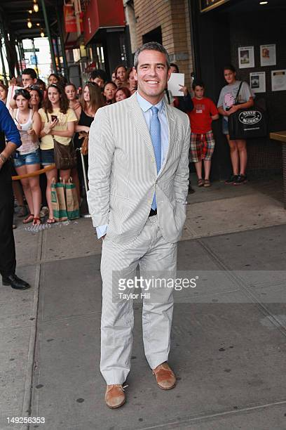 Bravo executive Andy Cohen attends The Campaign premiere at Sunshine Landmark on July 25 2012 in New York City