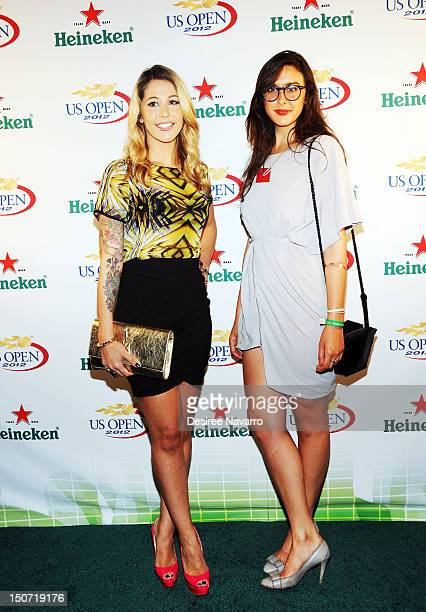 Bravo TV Personalities Liz Margulies and Claudia Martinez Reardon attend the Heineken 2012 US Open Player Party at the Gansevoort Park Hotel on...