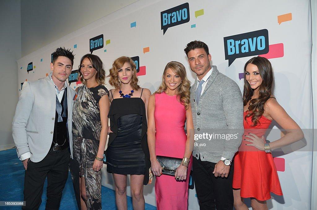 EVENTS -- 'Bravo Upfront 2013, Wednesday April 3rd at Stage 37 in New York City' -- Pictured: (l-r) Tom Sandoval, Kristen Doute, Katie Marie Maloney, Stassi Schroeder, Jax Taylor, Scheana Marie --