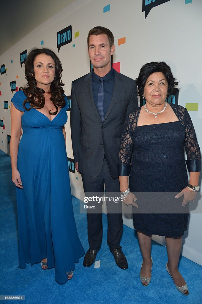 EVENTS -- 'Bravo Upfront 2013, Wednesday April 3rd at Stage 37 in New York City' -- Pictured: (l-r) Jenni Pulos, Jeff Lewis, Zoila Chavez --