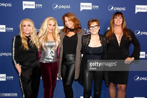 "BravoCon Press Room in New York City on Friday, November 15, 2019"" -- Pictured: Kim Richards, Adrienne Maloof, Jill Zarin, Caroline Manzo and Jeana..."