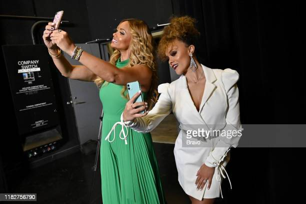 """BravoCon Press Room in New York City on Friday, November 15, 2019"""" -- Pictured: Gizelle Bryant and Ashley Darby --"""