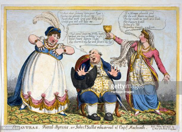 Bravuras Rival Syrens or John Bull's rehearsal of Capt Macheath pub 1807