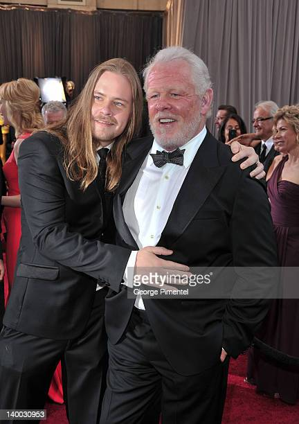 Brawley Nolte and actor Nick Nolte arrive at the 84th Annual Academy Awards held at the Hollywood Highland Center on February 26 2012 in Hollywood...