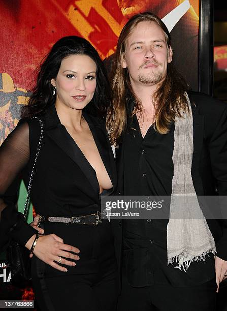 Brawley Nolte and Navi Rawat attend the premiere of HBO's new series LUCK at Grauman's Chinese Theatre on January 25 2012 in Hollywood California