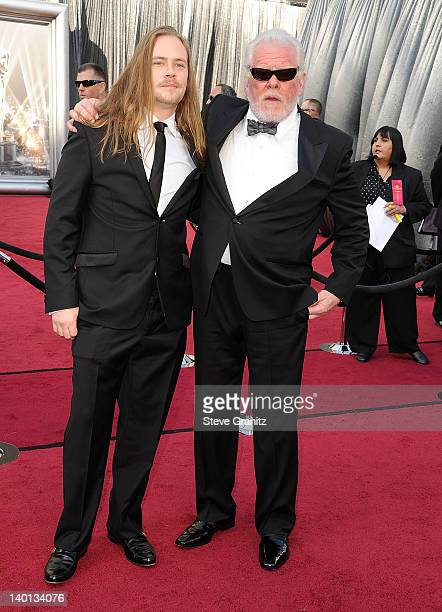 Brawley Nolte and Nick Nolte arrives at the 84th Annual Academy Awards at Grauman's Chinese Theatre on February 26 2012 in Hollywood California