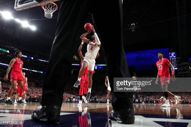 Braxton Key of the Virginia Cavaliers attempts a shot against the Texas Tech Red Raiders in the first half during the 2019 NCAA men's Final Four...