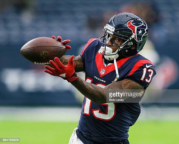 Braxton Miller of the Houston Texans during a preseason NFL game at NRG Stadium on August 20 2016 in Houston Texas
