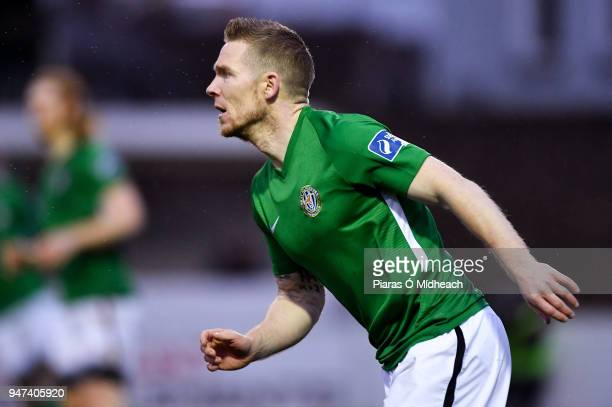 Bray Ireland 16 April 2018 Conor Kenna of Bray Wanderers during the SSE Airtricity League Premier Division match between Bray Wanderers and Shamrock...