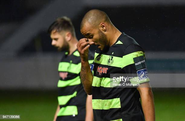 Bray Ireland 16 April 2018 Ethan Boyle of Shamrock Rovers leaves the field after the SSE Airtricity League Premier Division match between Bray...