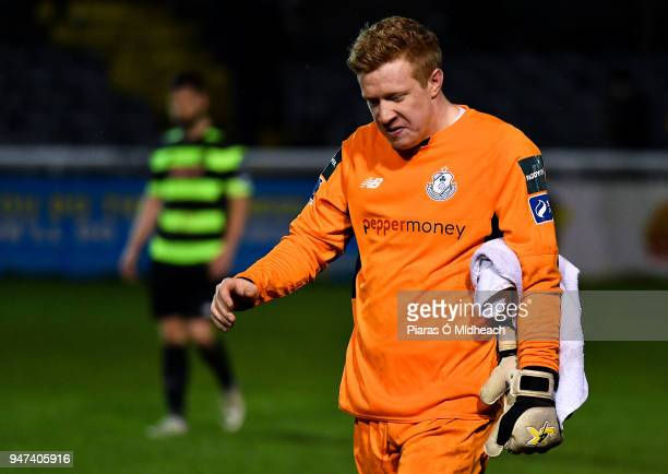 Bray Ireland 16 April 2018 Kevin Horgan of Shamrock Rovers leaves the field after the SSE Airtricity League Premier Division match between Bray...