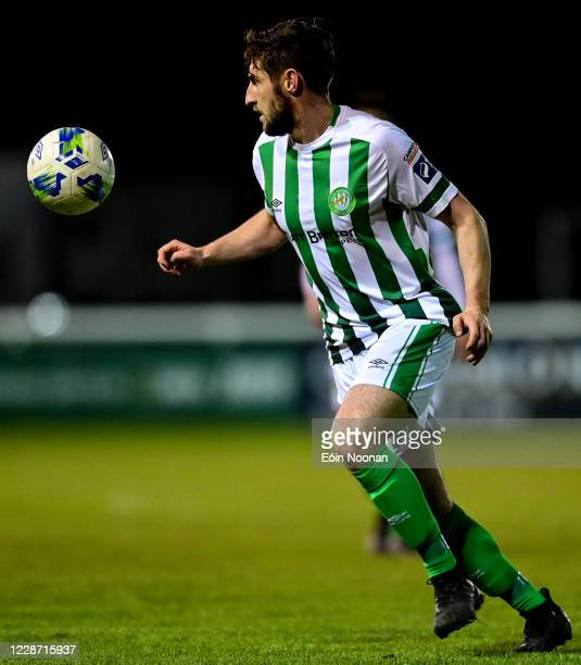 Bray , Ireland - 25 September 2020; Aaron Barry of Bray Wanderers during the SSE Airtricity League Premier Division match between Bray Wanderers and...
