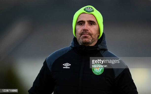 Bray , Ireland - 25 September 2020; Bray Wanderers coach Denis Hyland ahead of the SSE Airtricity League Premier Division match between Bray...