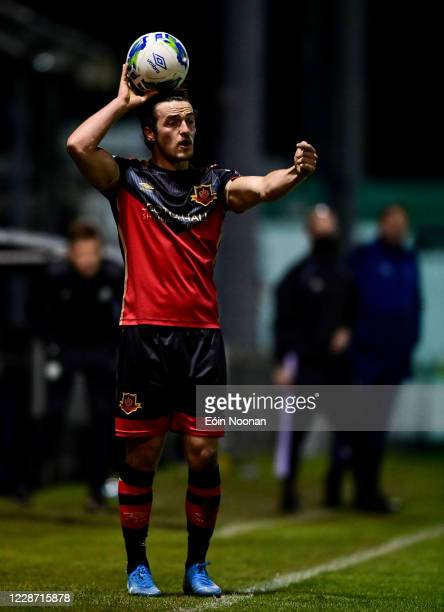 Bray , Ireland - 25 September 2020; James Brown of Drogheda United during the SSE Airtricity League Premier Division match between Bray Wanderers and...
