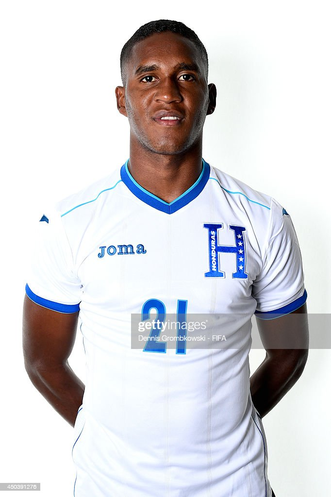 Brayan Beckeles of Honduras poses during the Official FIFA World Cup 2014 portrait session on June 10, 2014 in Porto Feliz, Brazil.