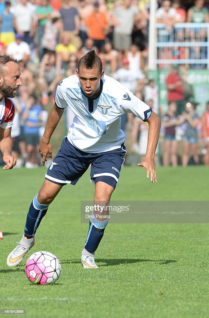 Brayan Perea of SS Lazio in action during the preseason friendly match between SS Lazio and Vicenza Calcio on July 18, 2015 in Auronzo near Cortina d'Ampezzo, Italy.