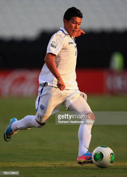 Brayan Velasquez of Honduras in action during the FIFA U17 World Cup UAE 2013 Group A match between Slovakia and Honduras at the Mohamed Bin Zayed...