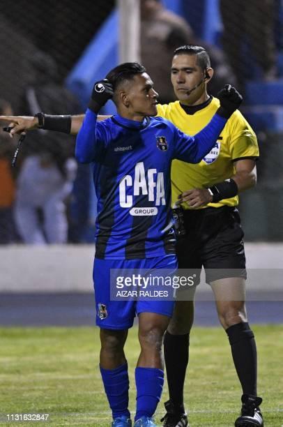 Brayan Velazquez Moya of Venezuela's Zulia celebrates after scoring against Bolivia's Nacional Potosi during their Copa Sudamericana football match...