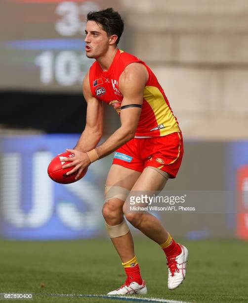 Brayden Fiorini of the Suns in action during the 2017 AFL round 08 match between the Gold Coast Suns and Port Adelaide Power at Jiangwan Sports...