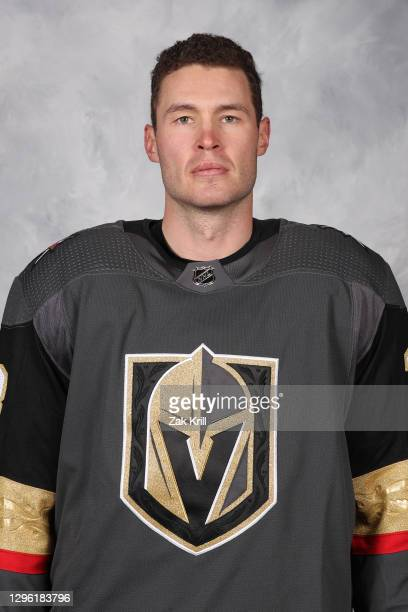 Brayden McNabb of the Vegas Golden Knights poses for his official headshot for the 2020-2021 season on January 3, 2021 at City National Arena in Las...