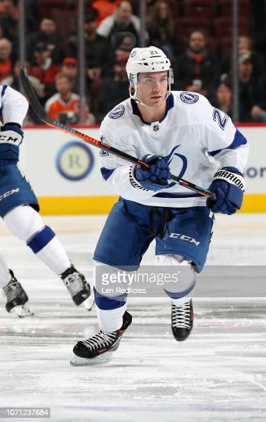 Brayden Point of the Tampa Bay Lightning skates against the Philadelphia Flyers on November 17 2018 at the Wells Fargo Center in Philadelphia...