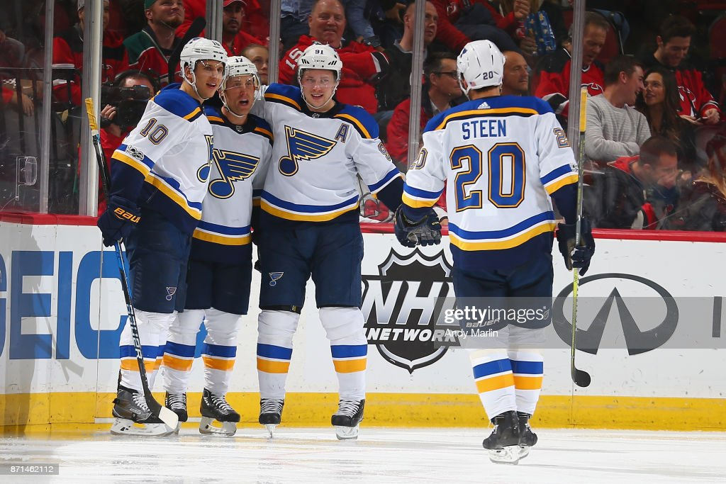 1369ade0624 St Louis Blues v New Jersey Devils   News Photo