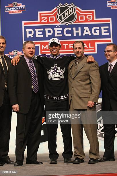 Brayden Schenn joins Los Angeles Kings VP/Assistant GM Ron Hextall CoDirectors of Amateur Scouting Michael Futa and Mark Yannetti and Amateur Scout...