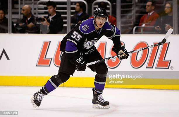 Brayden Schenn of the Los Angeles Kings skates against the Phoenix Coyotes at Staples Center on September 15 2009 in Los Angeles California