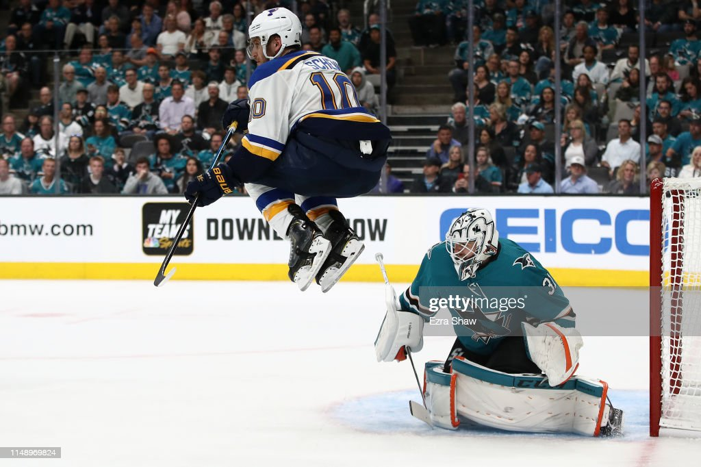 St Louis Blues v San Jose Sharks - Game Two : News Photo
