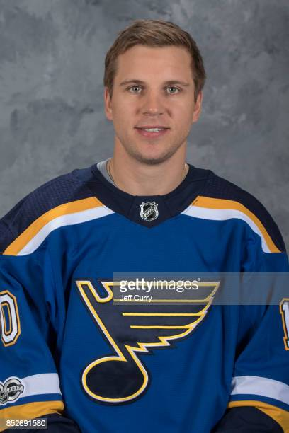 Brayden Schenn of the St Louis Blues poses for his official headshot for the 20172018 season on September 14 2017 in St Louis Missouri