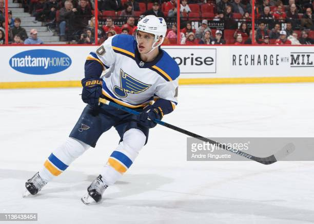 Brayden Schenn of the St Louis Blues skates against the Ottawa Senators at Canadian Tire Centre on March 14 2019 in Ottawa Ontario Canada