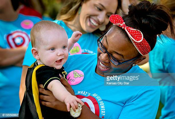 Brayden Smith 7 months old got to visit with Lexi Wright an assistant in the neonatal intensive care unit at Shawnee Mission Medical Center during...