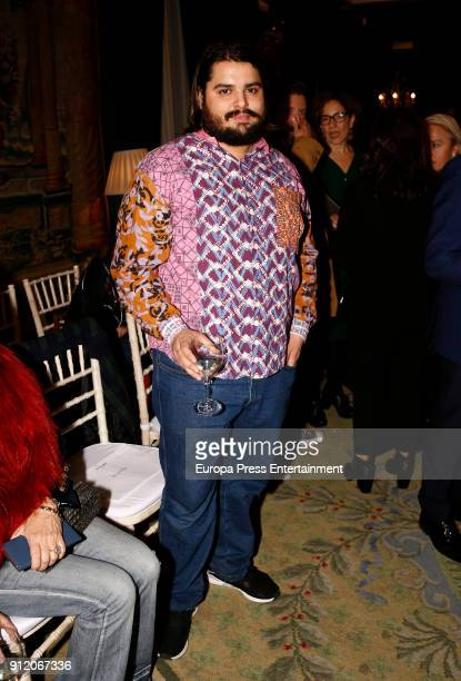 Brays Efe attends the front row of Palomo Spain show during Mercedes Benz Fashion Week Madrid Autumn / Winter 2018 on January 28 2018 in Madrid Spain