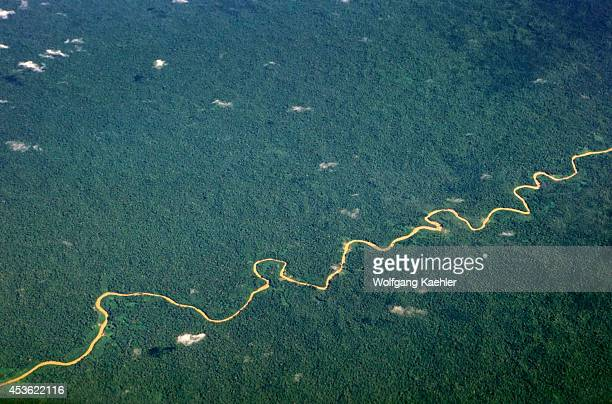Brazil Amazon Aerial View Of Rain Forest
