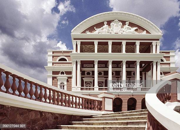 brazil, amazonas state, manaus opera house, low angle view - manaus stock pictures, royalty-free photos & images