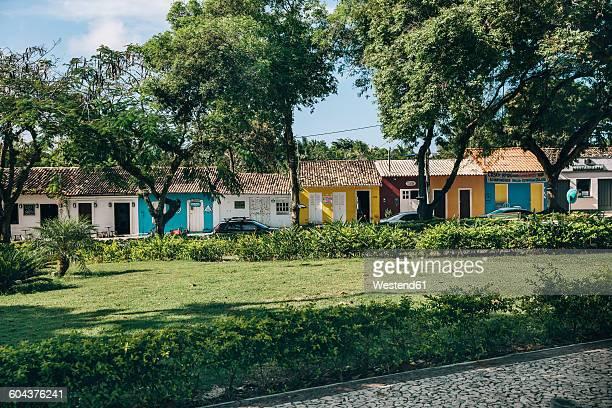 Brazil, Arraial dAjuda, view to row of one-family houses