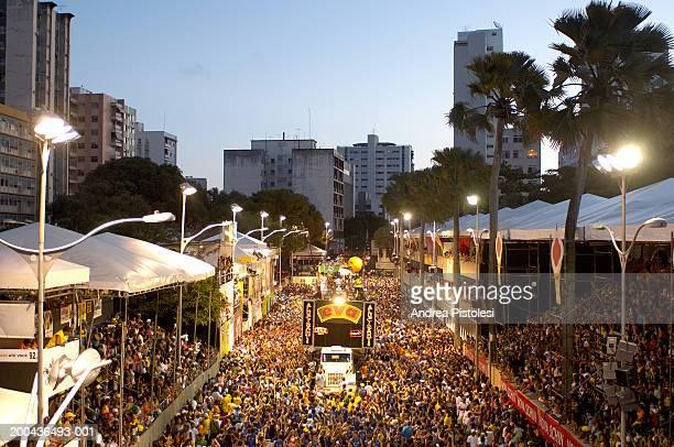 brazil, bahia state, salvador, carnival parade - salvador bahia imagens e fotografias de stock