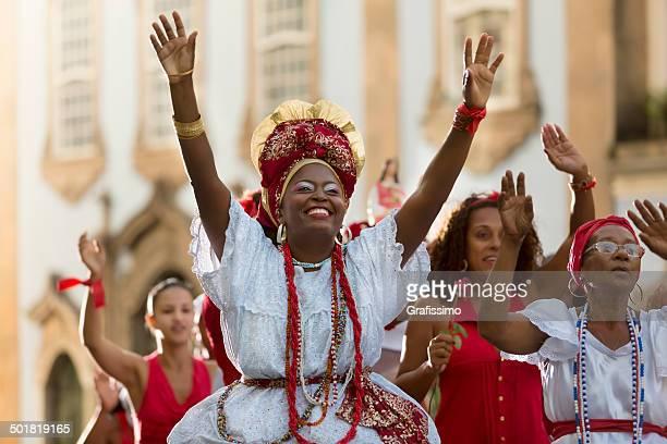 Brazil Baianas celebrating Saint Barbara in Salvador