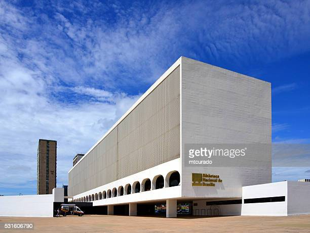 mc8_2438 brasilien, brasilia, bibilioteca nacional - brasilia stock-fotos und bilder