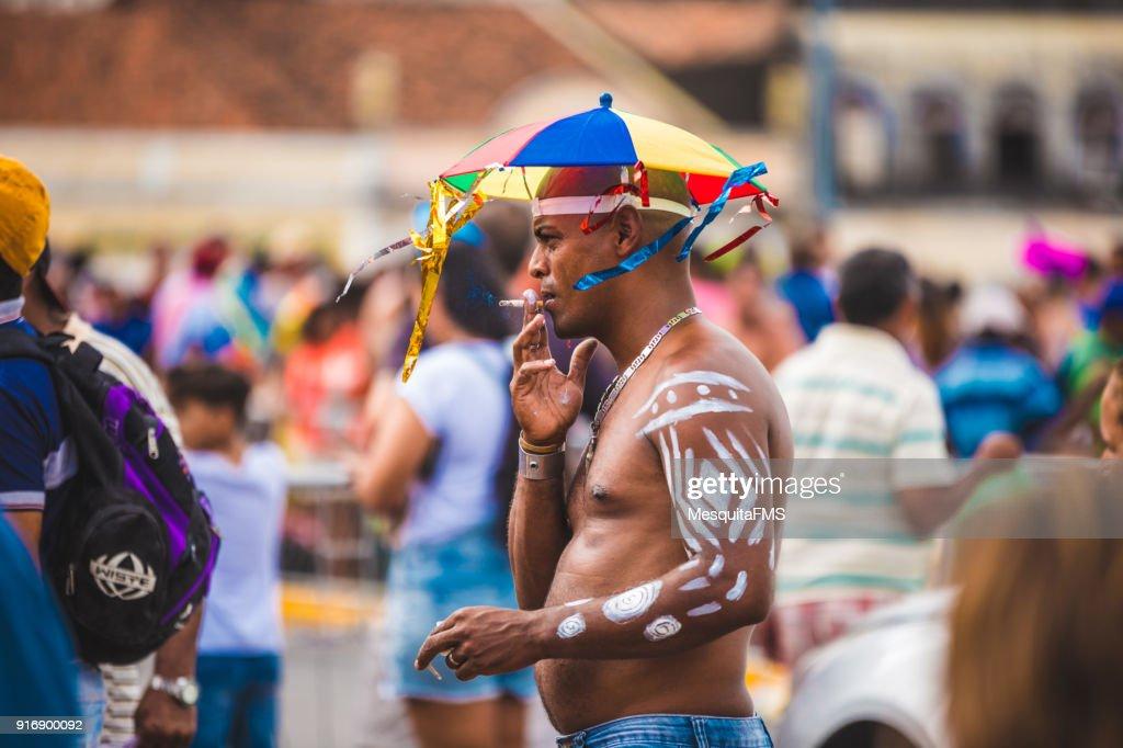 Brazilian Carnival Parade Of The Samba School Água Na Boca