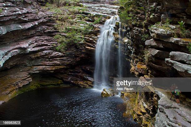 Brazil, Chapada Diamantina, Sossego waterfall